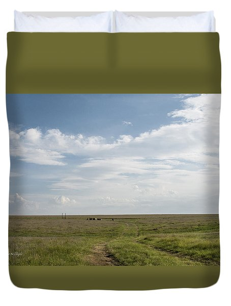 Duvet Cover featuring the photograph Wide Open Spaces by Karen Slagle