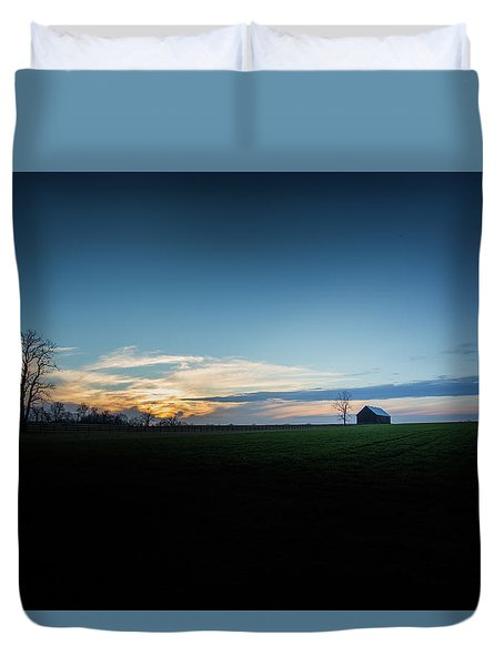 Duvet Cover featuring the photograph Wide Open Spaces by Shane Holsclaw