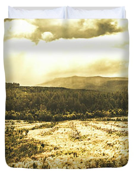 Wide Open Tasmania Countryside Duvet Cover