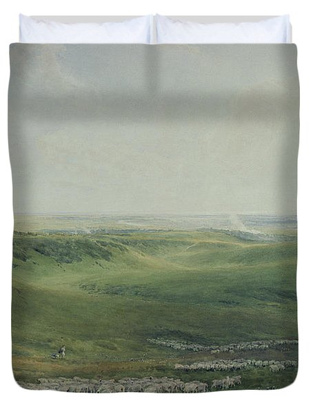 Wide Pastures Duvet Cover by Thomas Collier