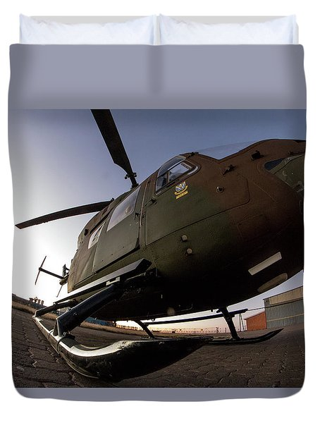 Duvet Cover featuring the photograph Wide by Paul Job