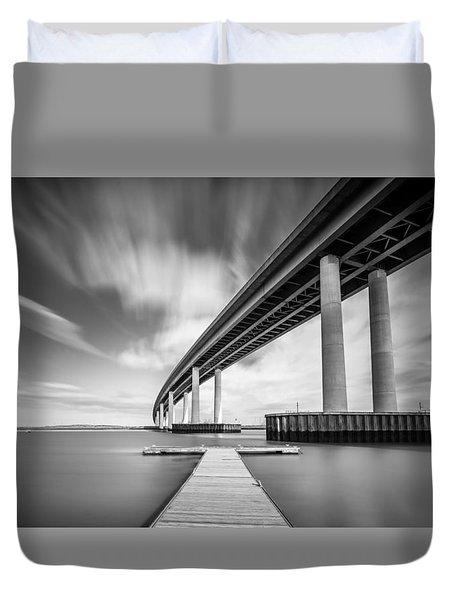 Wide  River Bridge Duvet Cover