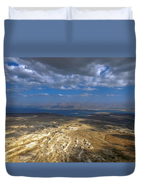 Wide View From Masada Duvet Cover