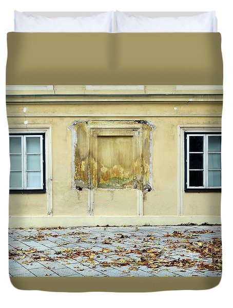 Wiener Wohnhaus Duvet Cover by Christian Slanec