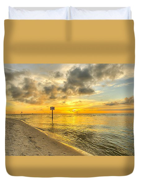 Wiggins Pass State Park Duvet Cover