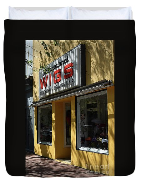 Duvet Cover featuring the photograph Wigs by Skip Willits