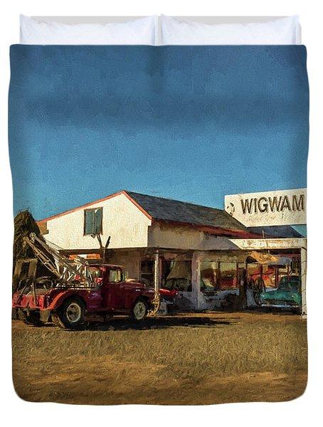 Wigwam Motel Duvet Cover
