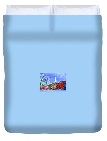 Wilbur Library  Uconn Duvet Cover