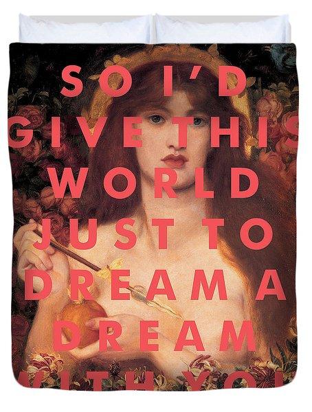 Wilco Lyrics Print Duvet Cover