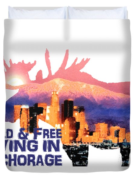 Duvet Cover featuring the digital art Wild And Free by Elaine Ossipov
