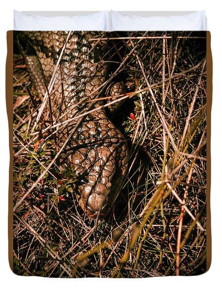 Wild Australian Blue Tongue Lizard Duvet Cover