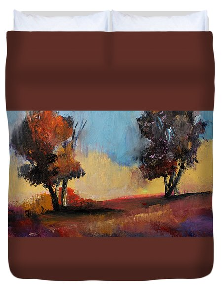 Wild Beautiful Places Trees Landscape Duvet Cover by Michele Carter