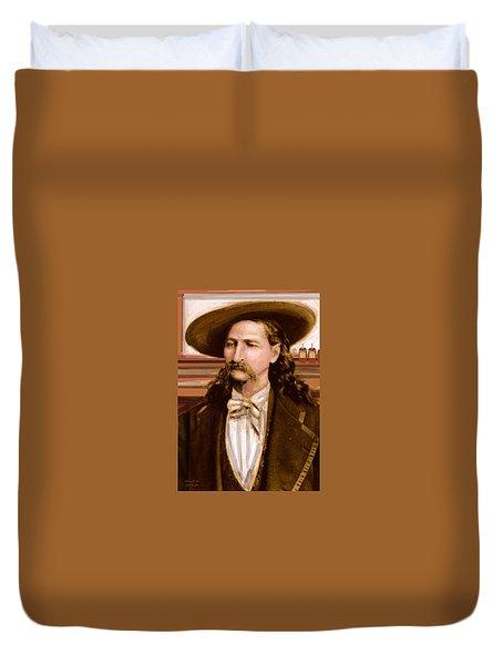 Wild Bill Hickok Duvet Cover by Larry Lamb