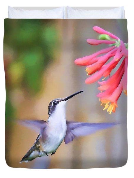 Wild Birds - Hummingbird Art Duvet Cover