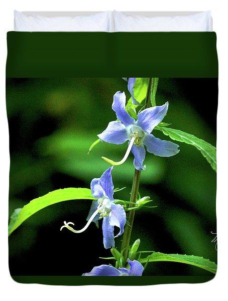 Wild Blue Flowers Duvet Cover