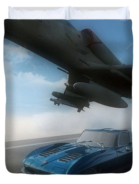 Wild Blue Duvet Cover by Richard Rizzo