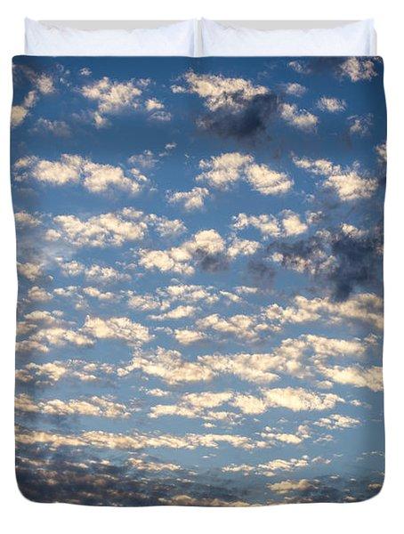 Wild Blue Sunset Duvet Cover