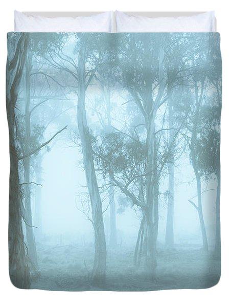 Wild Blue Woodland Duvet Cover