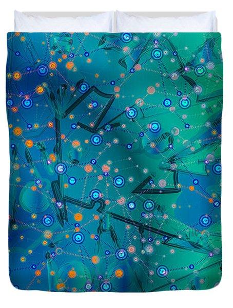 The Wild Blueberry Duvet Cover by Moustafa Al Hatter