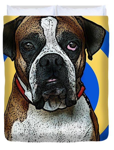 Wild Boxer 1 Duvet Cover by Bibi Romer