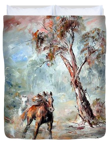 Wild Brumbies Duvet Cover