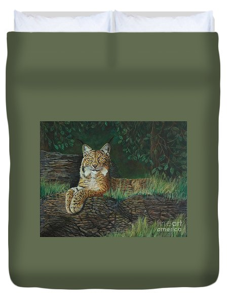 The Ever Watchful Lynx Duvet Cover