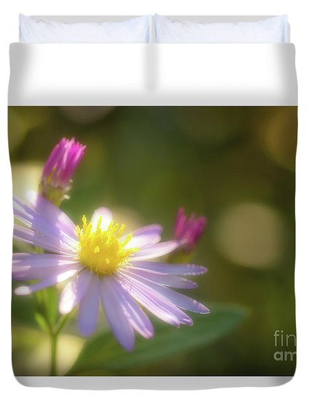 Duvet Cover featuring the photograph Wild Chrysanthemum by Tatsuya Atarashi