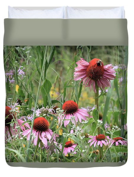 Wild Coneflowers Duvet Cover