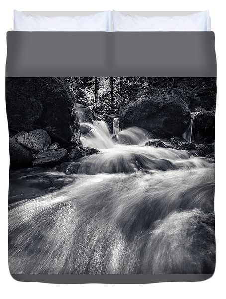 wild creek in Harz, Germany Duvet Cover by Andreas Levi