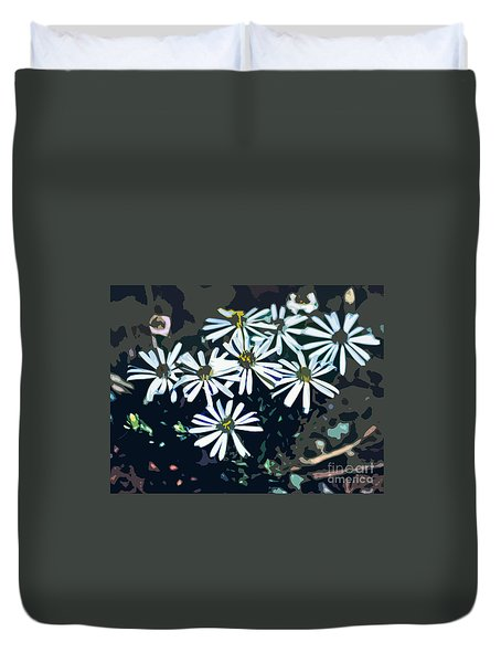 Duvet Cover featuring the photograph Wild Daisy Art  by Juls Adams