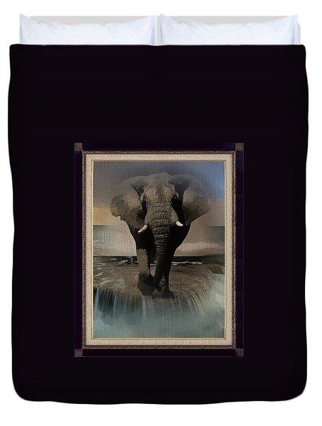 Wild Elephant Montage Duvet Cover