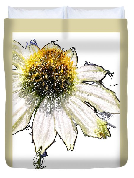 Duvet Cover featuring the photograph Wild Flower Five  by Heidi Smith