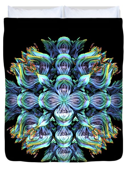 Duvet Cover featuring the digital art Wild Flower by Lyle Hatch
