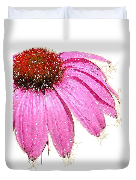 Duvet Cover featuring the photograph Wild Flower One  by Heidi Smith