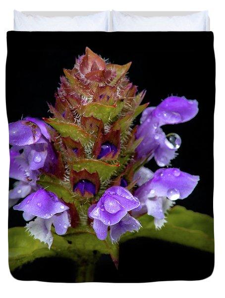 Wild Flower Portrait Duvet Cover