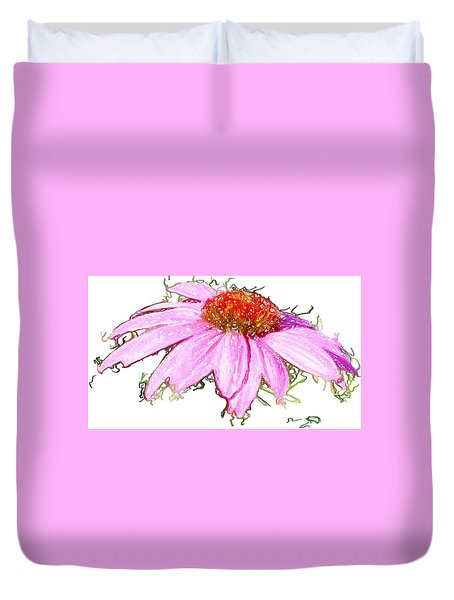 Duvet Cover featuring the photograph  Wild Flower Three by Heidi Smith