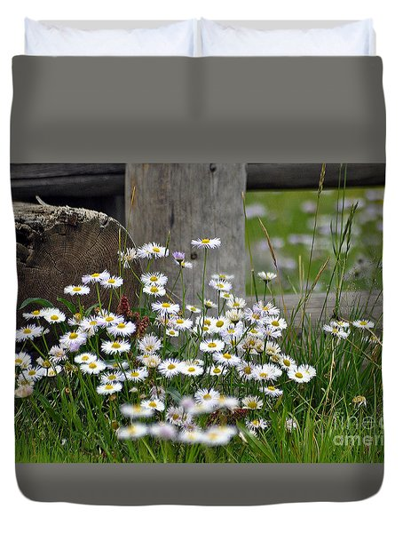Duvet Cover featuring the photograph Wild Flowers  by Juls Adams