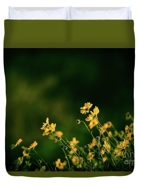 Duvet Cover featuring the photograph Wild Flowers by Kelly Wade