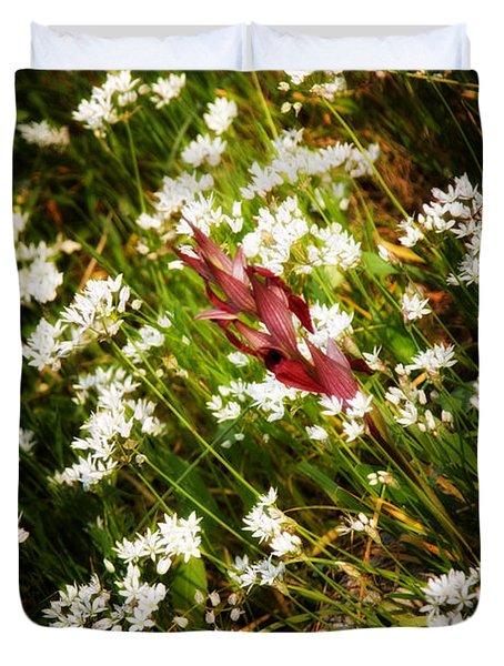 Wild Flowers Duvet Cover by Stelios Kleanthous