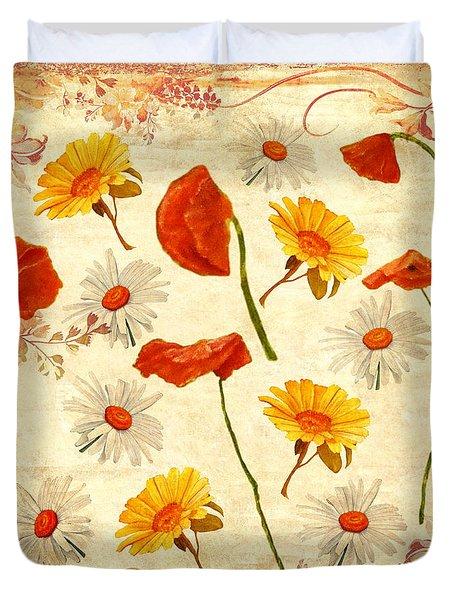 Wild Flowers Vintage Duvet Cover