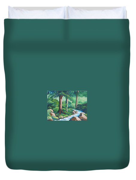 Wild Forest River Duvet Cover