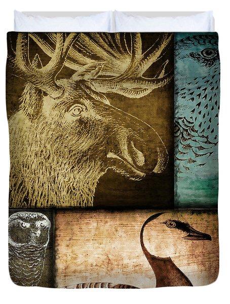 Wild Game Primitive Patchwork Duvet Cover