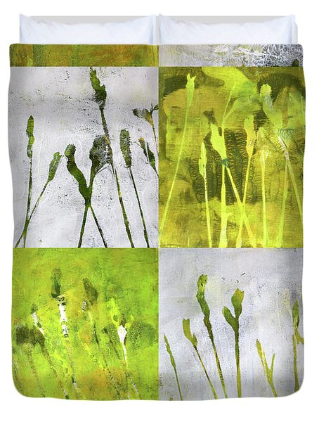 Wild Grass Collage 3 Duvet Cover