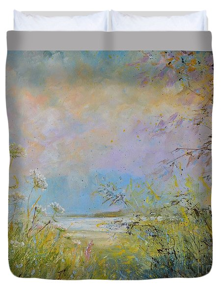 Wild Grasses Of Saugatuck Duvet Cover