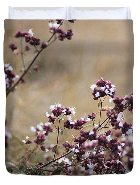 Wild Herbs  #herbs Duvet Cover by Mandy Tabatt