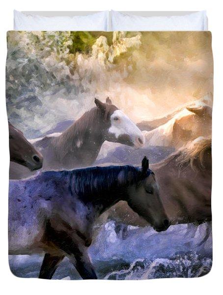 Wild Herd Duvet Cover by Janet Fikar