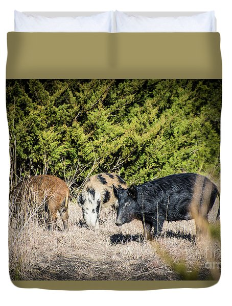 Wild Hogs Duvet Cover