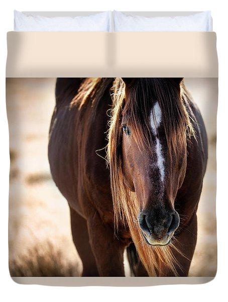 Wild Horse Watching Duvet Cover