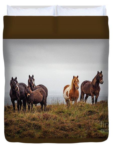 Wild Horses In Ireland Duvet Cover