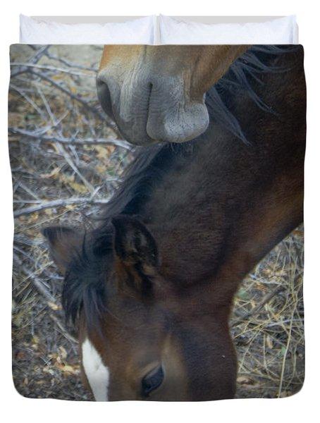 Wild Horses Of Nevada 5 Duvet Cover